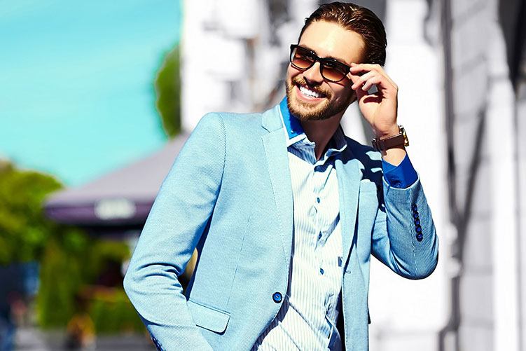 stylish man wearing sunglasses