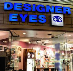 Designer Eyes front sign